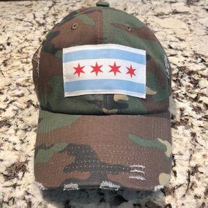 "CUSTOM ""Chicago"" Camo Baseball hat!! 🧢"